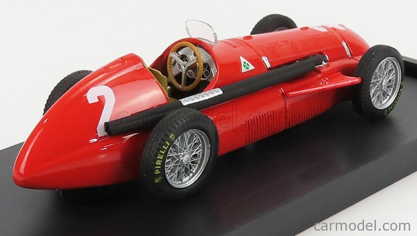 BRUMM R043-UPD-2021 Scale 1/43  ALFA ROMEO F1  159 N 2 WINNER BELGIUM GP JUAN MANUEL FANGIO 1951 WORLD CHAMPION RED