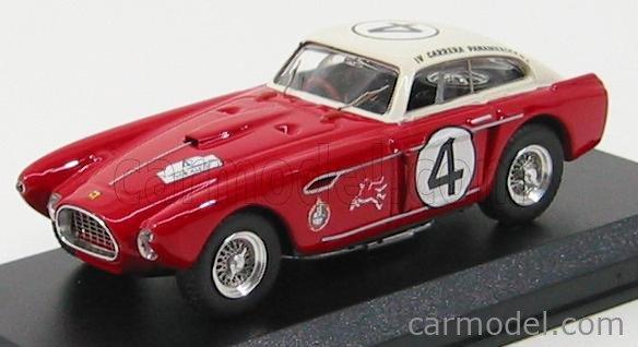 Art Model Art084 Masstab 1 43 Ferrari 340 Mexico Ch 0222 Vignale Coupe N 4 Carrera Panamericana 1953 P Hill R Ginther Red White