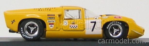 BEST-MODEL 9283 Scale 1/43  LOLA T70 COUPE N 7 BRANS-HATCH 1969 CRAFT - LIEDDEL YELLOW BLACK