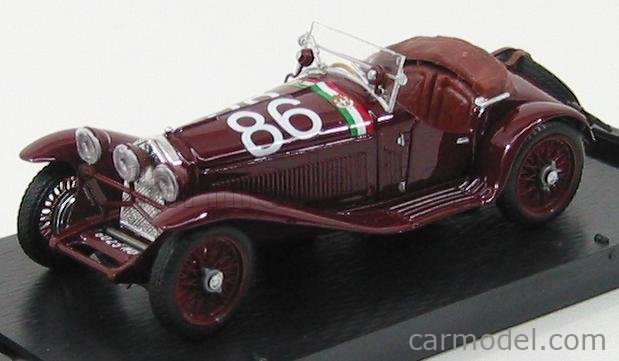 BRUMM R389B Echelle 1/43  ALFA ROMEO 1750 GS SPIDER N 86 3rd  MILLE MIGLIA 1930 CAMAPARI - MARINONI BORDEAUX