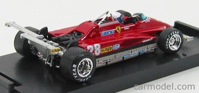BRUMM R273-CH Echelle 1/43  FERRARI F1  126C2 USA GP LONG BEACH 1982 D.PIRONI N 28 - WITH PILOT RED