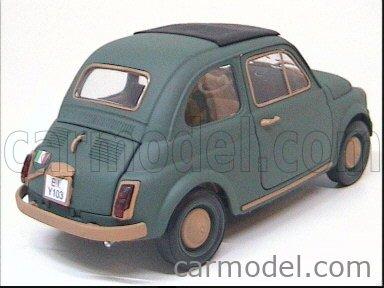 CARMODEL CAR1008 Echelle 1/18  FIAT 500 ESERCITO ITALIANO MILITARY GREEN