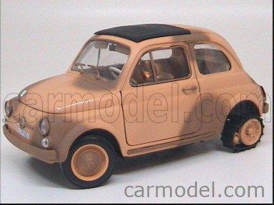 CARMODEL CAR1006 Echelle 1/18  FIAT 500 ESERCITO ITALIANO - LA NAVE DEL DESERTO MILITARY SAND