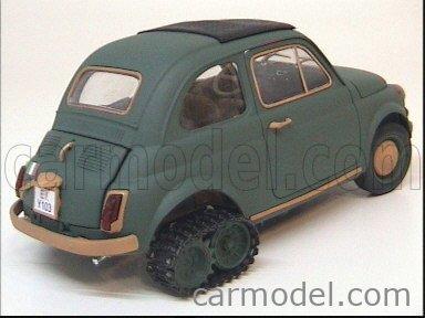CARMODEL CAR1009 Echelle 1/18  FIAT 500 SUPER TANK ! MILITARY GREEN