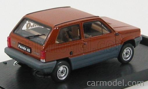 BRUMM R387-05K0 Scale 1/43  FIAT PANDA 45 1 SERIES 1980 - OCCASIONE Km.0 BROWN
