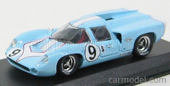 BEST-MODEL 9310 Scale 1/43  LOLA T70 COUPE N 9 SEBRING 1968 PATRICK - JORDAN LIGHT BLUE