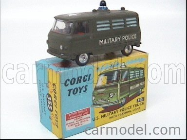 CORGI 355 Масштаб 1/43  COMMER MILITARY POLICE TRUCK MILITARY GREEN