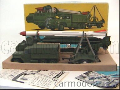 CORGI GS9 Echelle 1/43  CORPORAL GUIDED MISSILE + ERECTOR VEHICLE AND LAUNCHER + TRUCK 6X6 MILITARY GREEN