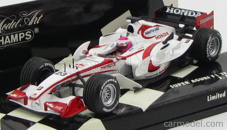 MINICHAMPS 400060123 Echelle 1/43  SUPER AGURI F1  SA05 N 23 RACE VERSION 2006 F.MONTAGNY WHITE RED