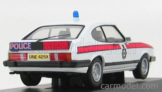 VANGUARDS VA10802 Scale 1/43  FORD ENGLAND CAPRI MKIII 2.8i MANCHESTER POLICE WHITE