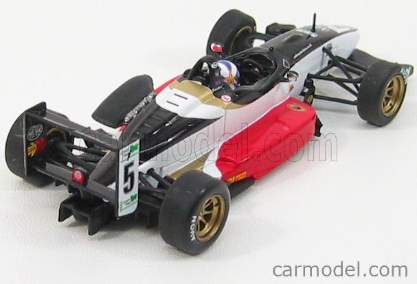 MINICHAMPS 400010305 Masstab: 1/43  DALLARA F301 MUGEN HONDA N 5 BRITISH F3 2001 A.DEVIDSON WHITE RED