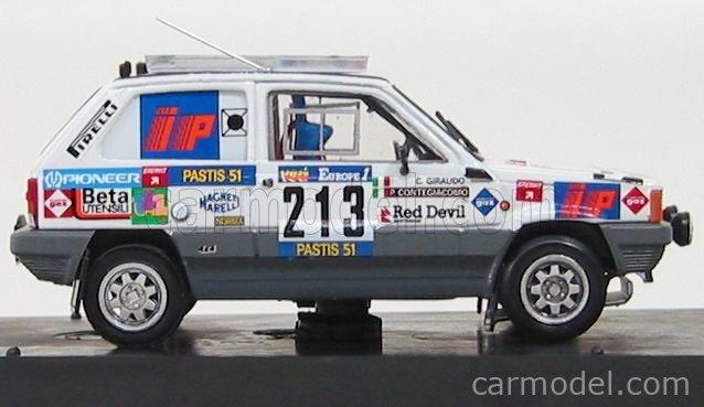 BRUMM R442 Echelle 1/43  FIAT PANDA 4X4 N 213 RALLY PARIS DAKAR 1984 GIRAUDO - CONTEGIACOMO WHITE