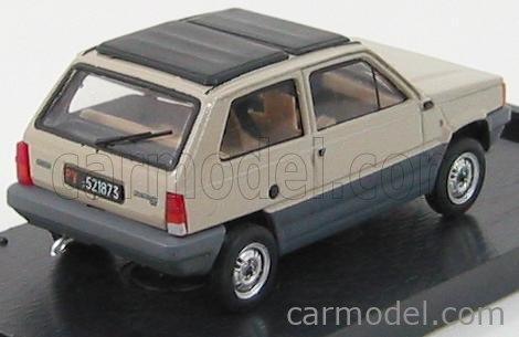 BRUMM R440-07 Echelle 1/43  FIAT PANDA TETTO APRIBILE CHIUSA - CLOSED ROOF 1981 BEIGE