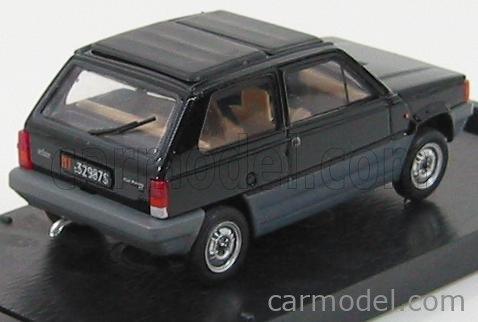 BRUMM R440-06 Echelle 1/43  FIAT PANDA TETTO APRIBILE CHIUSA - CLOSED ROOF 1981 BLACK