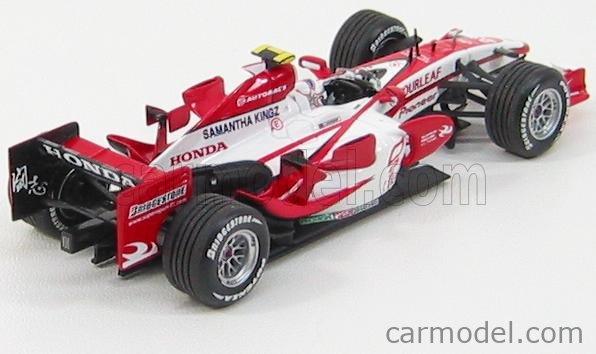 MINICHAMPS 400070023 Echelle 1/43  SUPER AGURI F1  SA07 N 23 2007 A.DAVIDSON WHITE RED