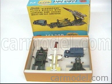 CORGI GS4 Echelle 1/43  LAND ROVER LAND + BLOODHOUND GUIDED MISSILE + RAMP + TROLLEY MILITARY GREEN