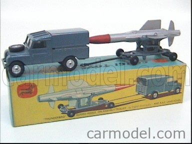 CORGI GS3 Echelle 1/43  LAND ROVER LAND R.A.F. WITH THUNDERBIRD GUIDED MISSILE BLUE GREY
