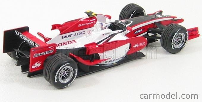MINICHAMPS 400080019 Echelle 1/43  SUPER AGURI F1  SA08 N 19 RACE VERSION 2008 A.DAVIDSON WHITE RED