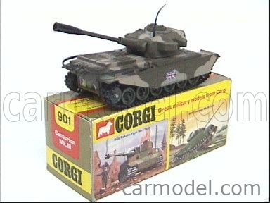 CORGI 901 Echelle 1/55  TANK CENTURION MK III MILITARY GREEN