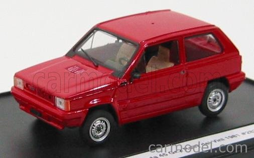 BRUMM K003 Echelle 1/43  FIAT PANDA 45 + TRANSKIT (DECALS AND ACCESSORIE S FOR RALLY DEI VINI 1981) RED