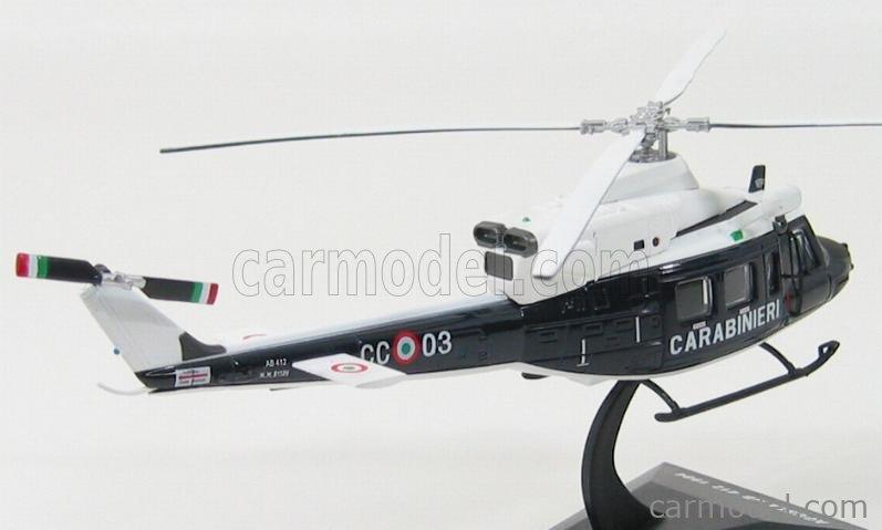 EDICOLA C013 Echelle 1/72  AGUSTA AB412 HELICOPTER - ELICOTTERO CARABINIERI 1984 BLUE WHITE