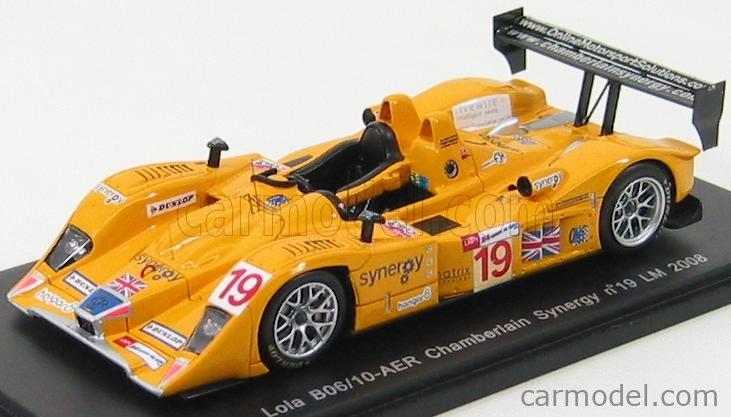 SPARK-MODEL S1438 Scale 1/43  LOLA B06/10 AER N 19 LE MANS 2008 BERRIDGE - EVANS - STRETTON YELLOW