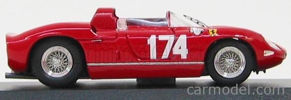 ART-MODEL ART129 Echelle 1/43  FERRARI 250P SPIDER N 174 TARGA FLORIO 1963 SURTEES - PARKES RED