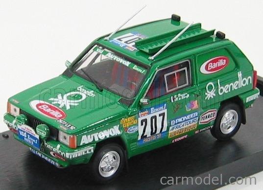 BRUMM R459 Echelle 1/43  FIAT PANDA 4X4 N 207 RALLY PARIS-DAKAR 1984 DE L.HERVE - D.CLAUDE GREEN