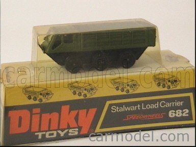 DINKY ENGLAND 682 Echelle 1/50  STALWART LOAD CARRIER MILITARY GREEN
