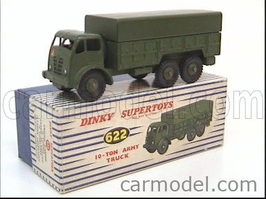 DINKY ENGLAND 622 Echelle 1/50  TRUCK 10-TON ARMY TRUCK MILITARY GREEN