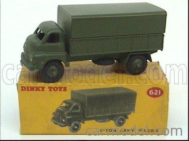 DINKY ENGLAND 621 Echelle 1/50  TRUCK 3-TON ARMY WAGON MILITARY GREEN