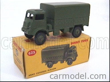 DINKY ENGLAND 623 Echelle 1/50  TRUCK ARMY COVERED WAGON MILITARY GREEN