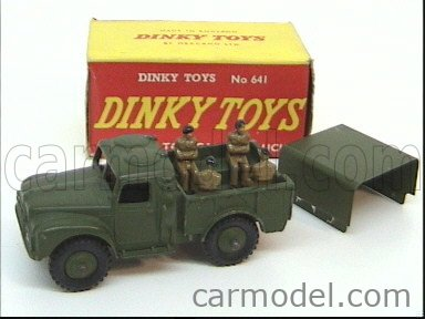 DINKY ENGLAND 641 Echelle 1/50  TRUCK ARMY I-TON CARGO TRUCK MILITARY GREEN