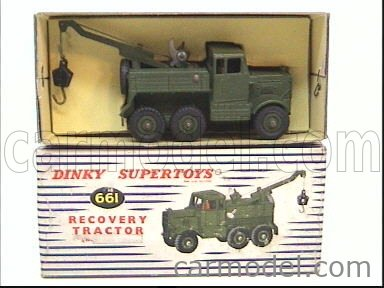 DINKY ENGLAND 661 Echelle 1/50  TRUCK RECOVERY TRACTOR MILITARY GREEN