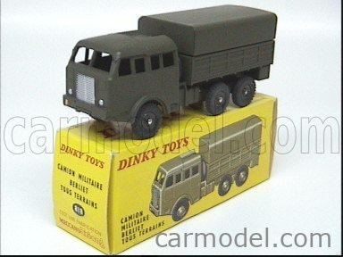 DINKY FRANCE 818 Echelle 1/43  BERLIET TOUS TERRAINS 6X6 COVERED MILITARY GREEN