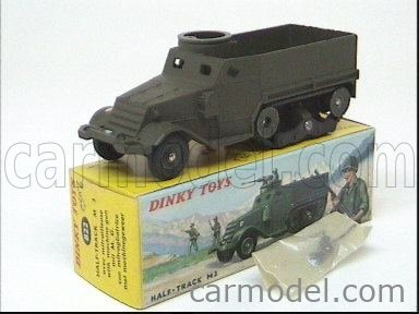DINKY FRANCE 822 Echelle 1/43  CARRIER HALF TRUCK M3 MILITARY GREEN