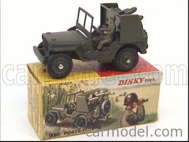 DINKY FRANCE 828 Escala 1/43  JEEP PORTE-FUSEES MILITARY GREEN