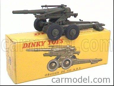 DINKY FRANCE 80E Echelle 1/43  OBUSIER GUN 155 A.B.S. MILITARY GREEN