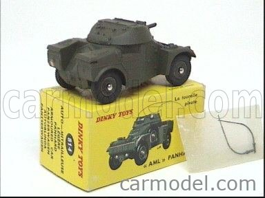 DINKY FRANCE 814 Echelle 1/43  PANHARD AML ARMOURED CAR MILITARY GREEN