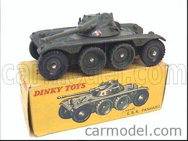 DINKY FRANCE 80A Echelle 1/43  PANHARD E.B.R. ARMOURED CAR MILITARY GREEN