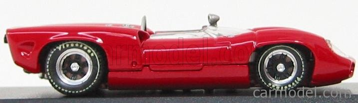 BEST-MODEL 9175 Scale 1/43  LOLA T70 SPIDER PROVA 1956 RED
