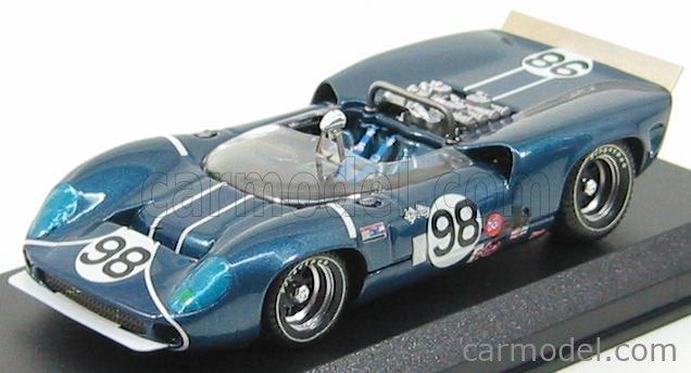 BEST-MODEL 9179 Scale 1/43  LOLA T70 SPIDER N 98 RIVERSIDE 1966 PARNELLI - JONES BLUE MET
