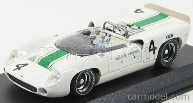 BEST-MODEL 9185 Scale 1/43  LOLA T70 SPIDER N 4 OULTON PARK 1965 D.HULME WHITE GREEN