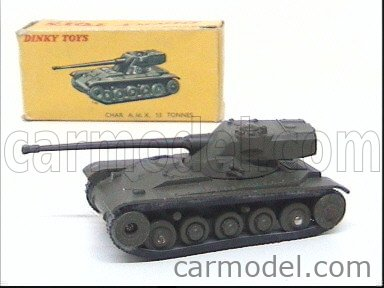 DINKY FRANCE 80C Echelle 1/43  AMX AMX A.M.X.  13 TONNES TANK MILITARY GREEN