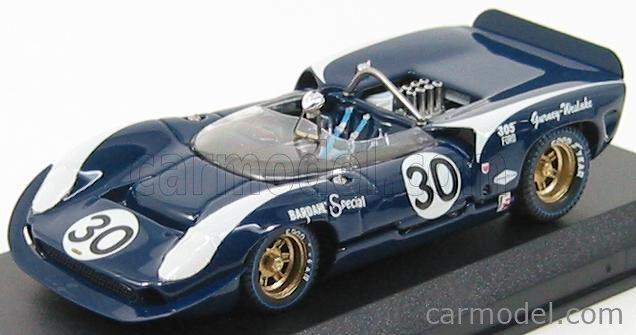 BEST-MODEL 9189 Scale 1/43  LOLA T70 SPIDER N 30 BRIDGEHAMPTON 1966 D.GURNEY BLUE WHITE