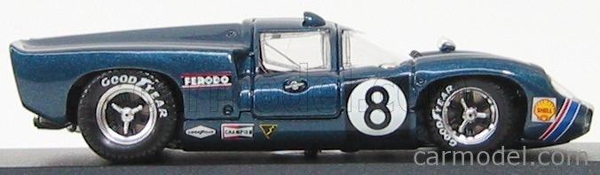 BEST-MODEL 9223 Scale 1/43  LOLA T70 COUPE N 8 DAYTONA 1969 LESLIE - MOTSCHENBAC BLUE MET