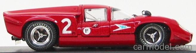 BEST-MODEL 9231 Echelle 1/43  LOLA T70 COUPE N 2 BRANDS HATCH 1967 SURTEES - HOBBS RED WHITE