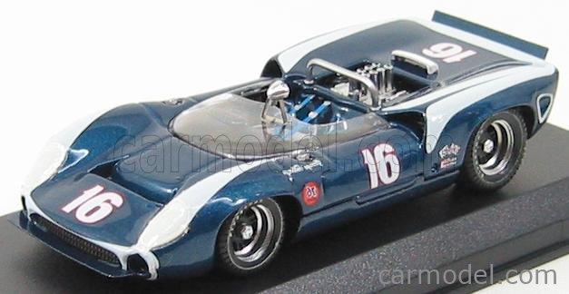 BEST-MODEL 9237 Scale 1/43  LOLA T70 SPIDER N 16 RIVERSIDE 1967 G.FOLLMER BLUE MET WHITE