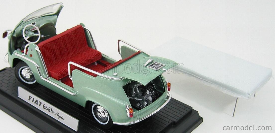 MINIMINIERA MMT74307 Scale 1/18  FIAT 600 MULTIPLA TAXI COSTIERA AMALFITANA GREEN MET