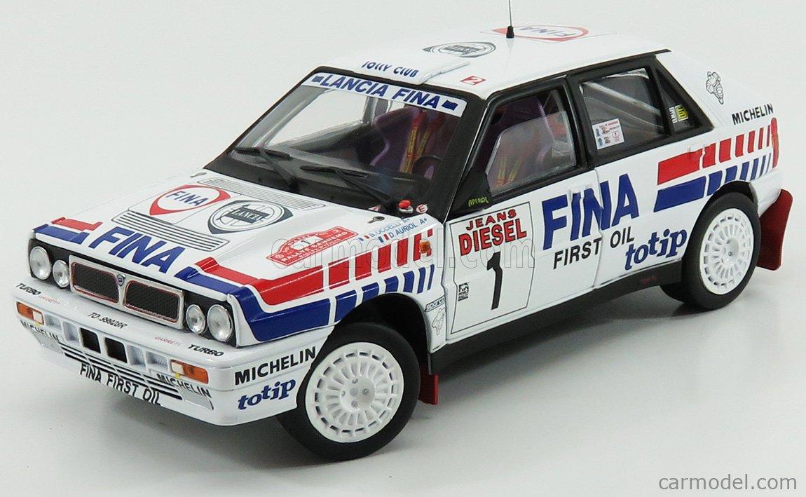 Sun Star Lancia Delta HF Integrale 16V Rally Weiss Kankkunen Gewinner Rallye Lombard 1991 1//18 Modell Auto mit individiuellem Wunschkennzeichen